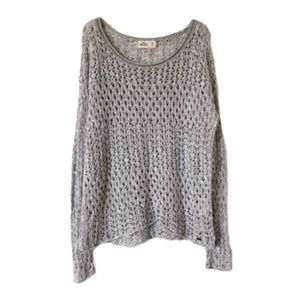 HOLLISTER   Gray Open Knit Sweater